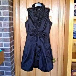 Samuel Dong black bubble hem fit & flare dress